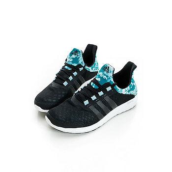 adidas (女)慢跑鞋 黑/綠 - S78255
