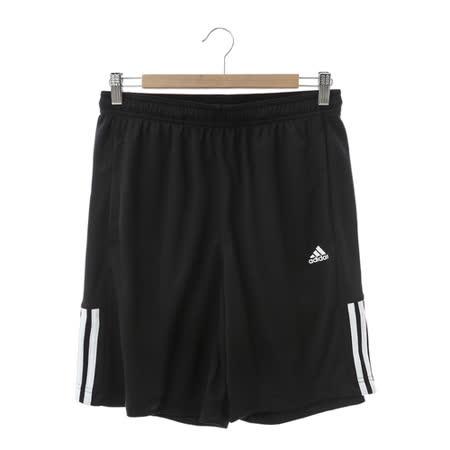 adidas男 運動短褲 黑-AB6421