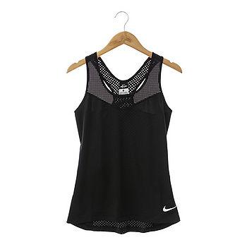 Nike (女)背心 黑- 725727010