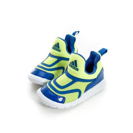 ADIDAS (童)慢跑鞋螢光藍 519 AQ5106