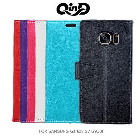 QinD 勤大 Samsung Galaxy S7 G930F 水晶帶扣插卡皮套