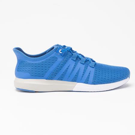 AIRWALK(男)- 輕量繫帶透氣網布慢跑鞋-藍