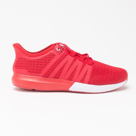 AIRWALK(女)- 輕量繫帶透氣網布慢跑鞋-紅