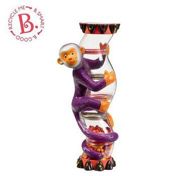 美國 B.Toys 感統玩具 非洲童樂團 雨鈴猴 Monkey Rainstick