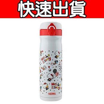 THERMOS膳魔師 不鏽鋼真空保溫瓶0.5L KITTY限定版 (JMY-501KT-WH)