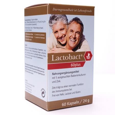 【LactobactR 60Plus】萊德寶銀髮族配方膠囊益生菌:60歲以上成人專用(腸道保健)