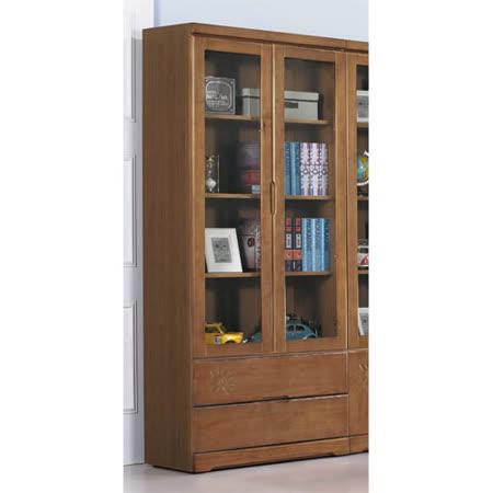 娜卡緹二抽半實木書櫃