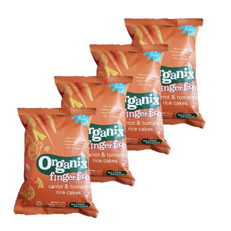 英國Organix 有機寶寶蔬菜米餅50gX4