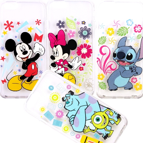 【Disney】iPhone6 /6s 花朵系列 彩繪透明保護軟套