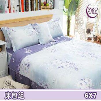 名流寢飾 100%天絲雙人特大床包組 -愛如潮水