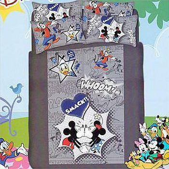 名流寢飾 100%精梳棉迪士尼樂園兩用鋪棉被套床包組 -雙人特大