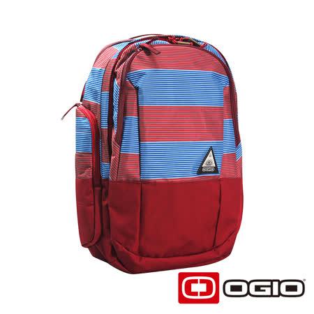 OGIO CLARK 15 吋克拉克休閒電腦後背包(紅藍紋)