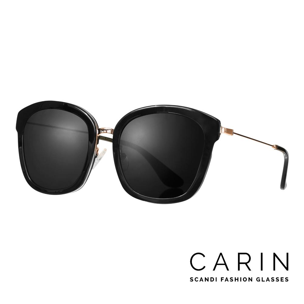 CARIN 韓國名星愛用 款太陽眼鏡Mika~C1^(黑^)
