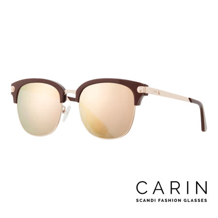 CARIN 韓國名星愛用經典款太陽眼鏡 Rénost-C2-Gold mirror(咖啡金)