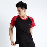 【遊遍天下】台灣製中性款吸排涼感機能衫 (黑紅S-3L) (品特)