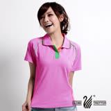 【遊遍天下】台灣製女款吸排涼感POLO機能衫 (玫瑰粉M-2L) (品特)