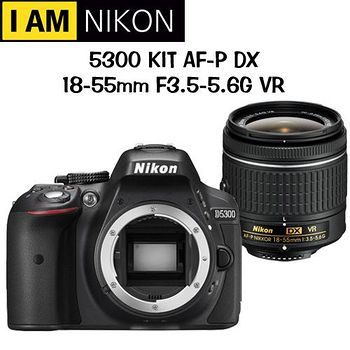 NIKON D5300 AF-P 18-55mm VR (公司貨)-送BENRO後背包+MARUMI保護鏡+ BENRO大腳架等7大達人專業全配好禮(市價下殺3000元)