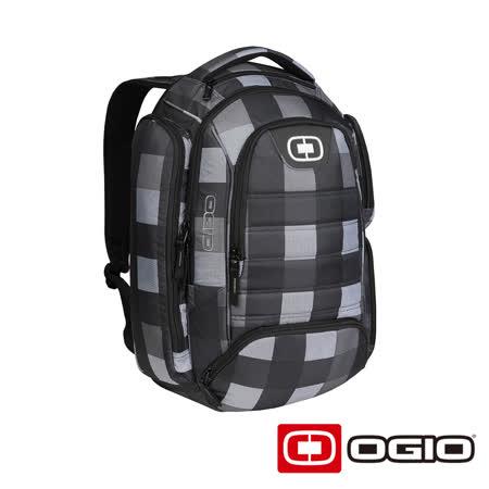 OGIO Metro II 17 吋都會電腦後背包(藍灰格紋)