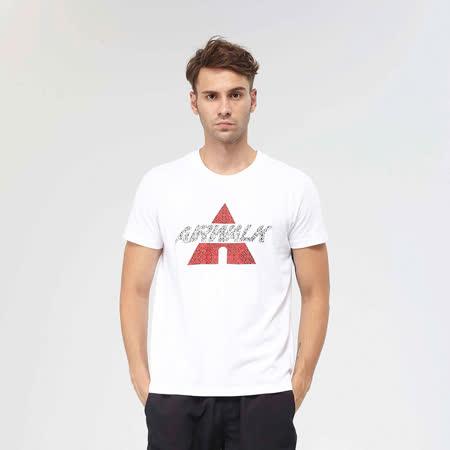 AIRWALK(男)- A字迷彩潮流棉圓領T恤 - 白