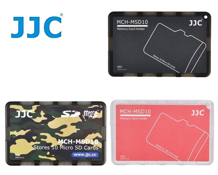 JJC超薄名片型記憶卡收納盒MCH-MSD10系列 適放10張Micro SD/Micro SDHC/Micro SDXC