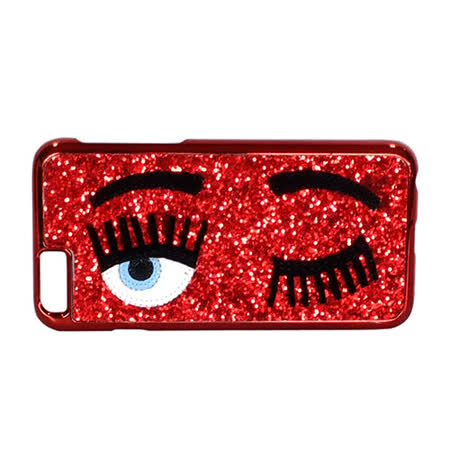 Chiara Ferragni 亮粉眨眼圖手機保護殼(iPhone 6/赤紅)