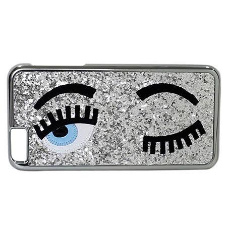 Chiara Ferragni 亮粉眨眼圖手機保護殼( iPhone6 plus/銀色)