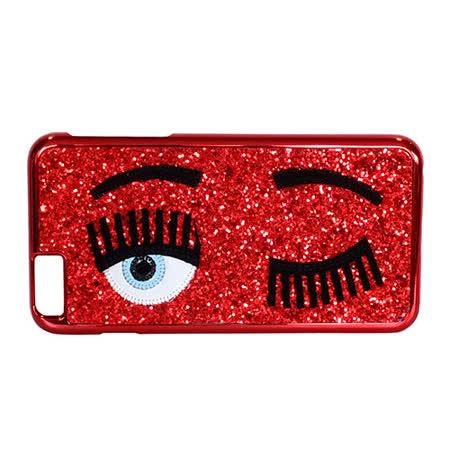 Chiara Ferragni 亮粉眨眼圖手機保護殼( iPhone6 plus/赤紅)