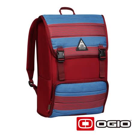 OGIO RUCK 17 吋方陣電腦後背包(紅藍紋)