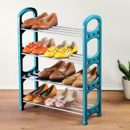 (團購1入)《Homelike》簡約四層收納鞋架