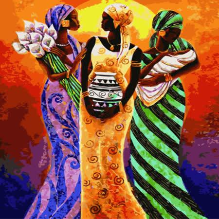 【ArtLife】創意油畫、數字油畫DIY_(非洲女郎)