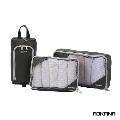 AOKANA奧卡納 台灣製造 高品質 衣物收納愛 買 app袋六件組 (軍綠)