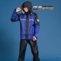 OutPerform-犀爾德強化型兩截式風雨衣 寶藍/黑藍