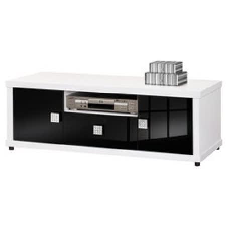 HAPPYHOME 米蘭4尺白色電視櫃UZ6-241-3