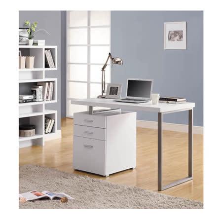 莎蓉摩登電腦書桌(白色)