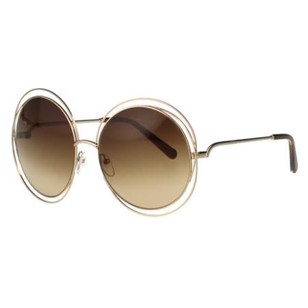 CHLOE太陽眼鏡 金屬大圓框(金色框)CE114S