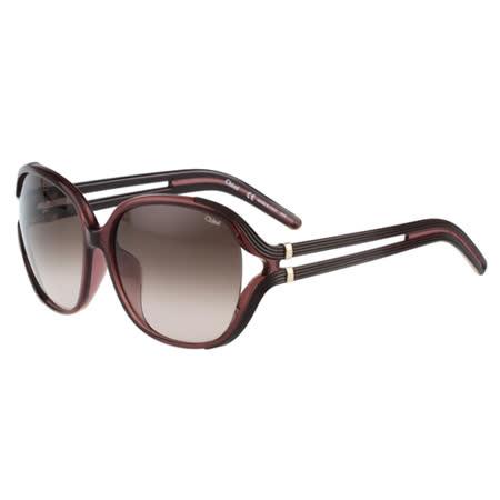 CHLOE太陽眼鏡 氣質簍空(紫紅框)