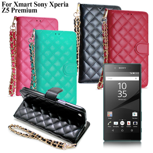X_mart Sony Xperia Z5 Premium 守候甜心菱格iPhone皮套