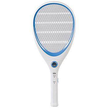 大家源 三層充電式電蚊拍-網球拍造型款。繽紛藍 /TCY-6143