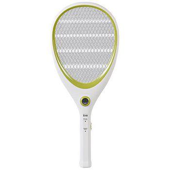 大家源 三層充電式電蚊拍-網球拍造型款。蘋果綠 /TCY-6143