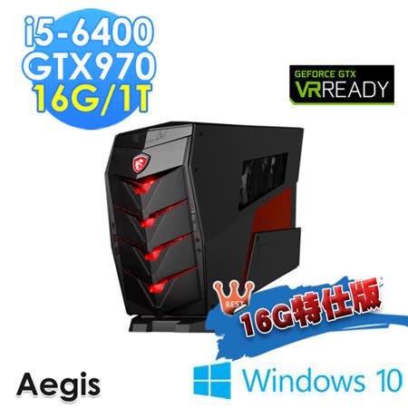 【msi微星】Aegis-011TW i5-6400 GTX970 WIN10(16G特仕版)