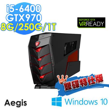 【msi微星】Aegis-011TW i5-6400 GTX970 WIN10(雙碟特仕版)
