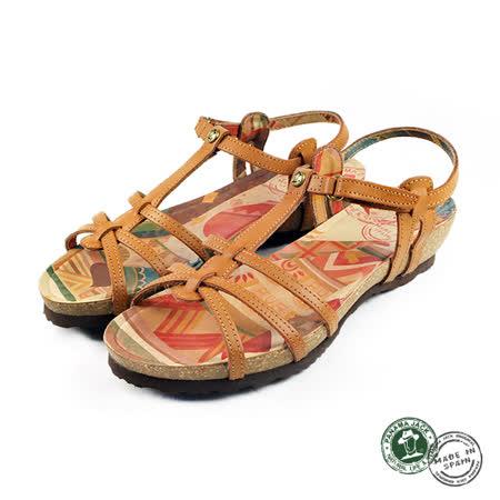 【Panama Jack】Dori扣帶平底涼鞋 黃褐色(PSW45-CAM)