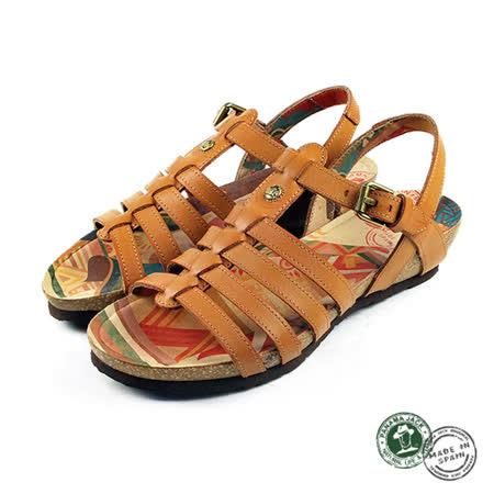 【Panama Jack】Duna平底羅馬涼鞋 黃褐色(PSW46-CAM)