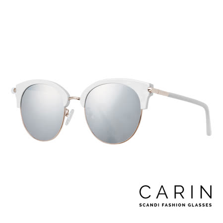 CARIN 韓國名星愛用經典款太陽眼鏡 Loist-C3-Silver mirror(銀白)