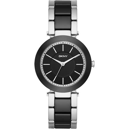 DKNY Stanhope 名模風采陶瓷時尚腕錶-黑/36mm NY2499