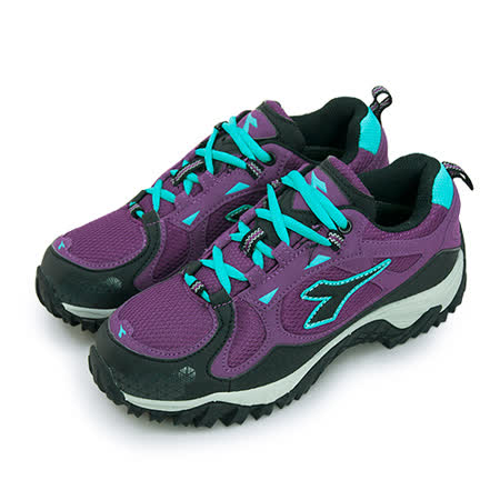 【女】DIADORA 抗水越野登山鞋 戶外野趣系列 紫黑藍 3117