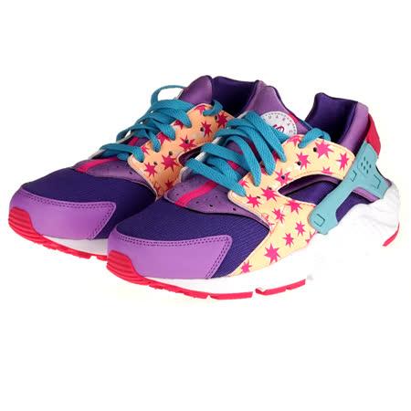 【NIKE】耐吉 NIKE HUARACHE RUN PRINT GG  運動休閒鞋 女 大童 704946600