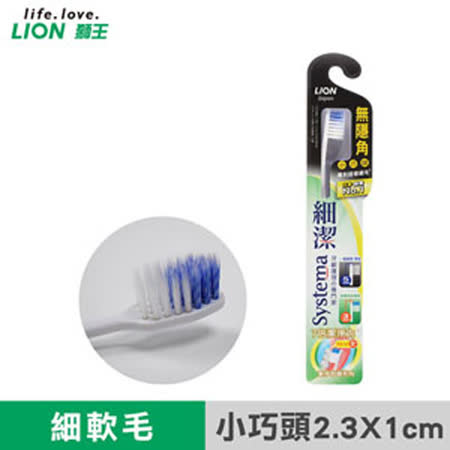 【LION日本獅王】細潔無隱角牙刷-小巧頭