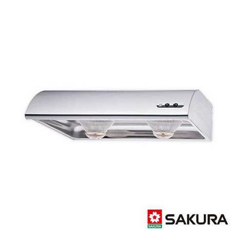 【櫻花】R-3012 單層式烤漆白除油煙機 70CM