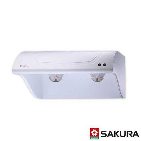 【櫻花】R-3250L 斜背式烤漆白除油煙機 80CM